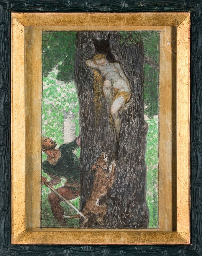 Alexander Rothaug - HUNTER DISCOVERS A SLEEPING WOOD NYMPH/CYPRESS GROVE | MasterArt